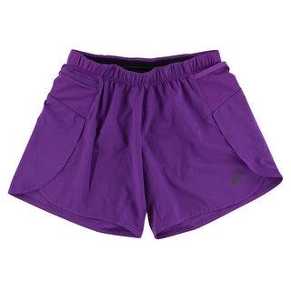 Asics Womens Woven Four Inch Shorts Purple