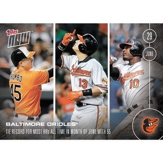 Baltimore Orioles MLB 2016 Topps NOW Dual-Sided Card 192