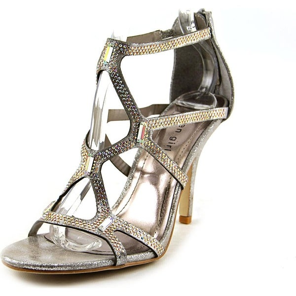 Madden Girl Digitize Women Open Toe Canvas Silver Sandals