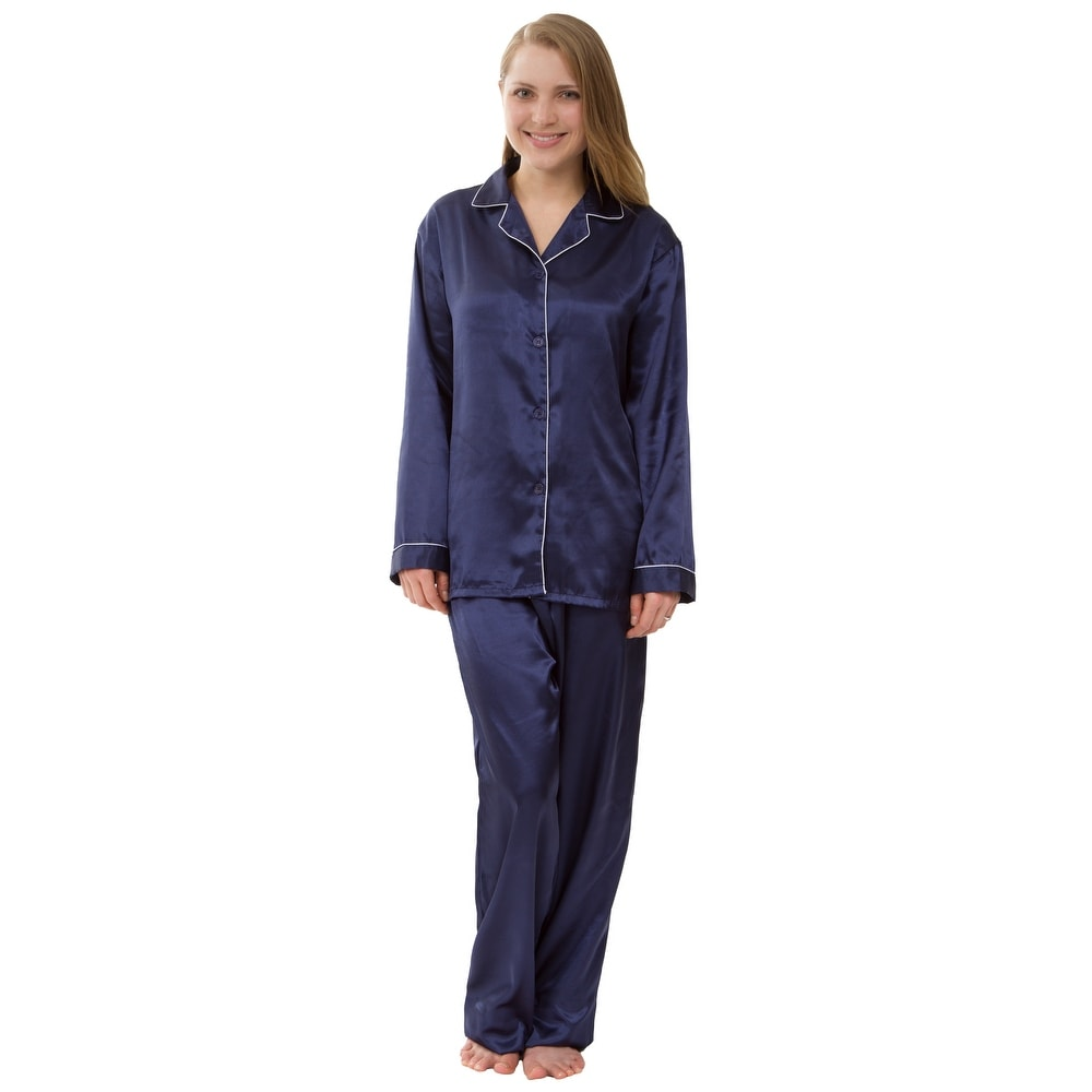 Womens Satin Pajam Set Silky Satin Pajama Set