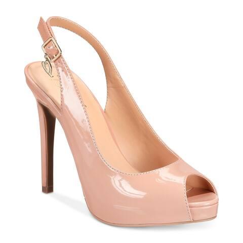 Thalia Sodi Womens Luzia Leather Peep Toe SlingBack Classic Pumps