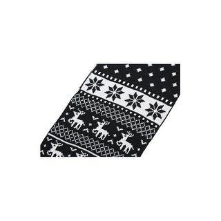 Men Animal Print Warm Soft Thick Shawl Wrap Long Scarf Black+White -1