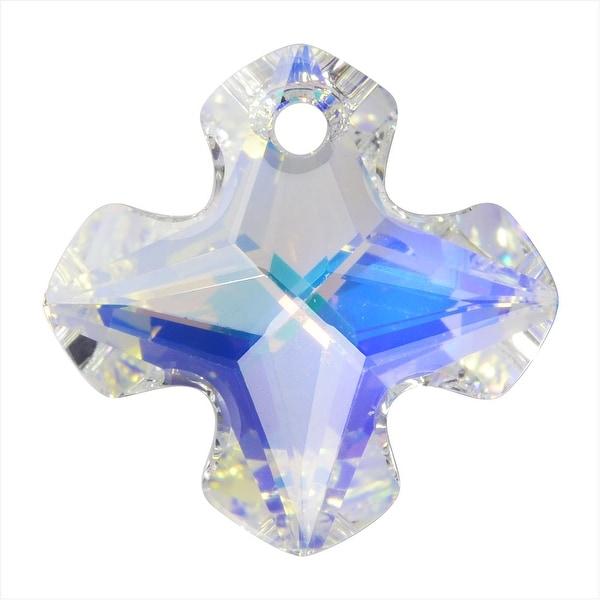 Swarovski Crystal, 6867 Greek Cross Pendant 28mm, 1 Piece, Crystal AB