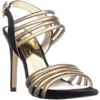 Michael Michael Kors Cameron Sandals, Black/Pale Gold