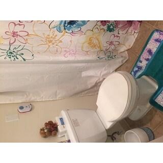 Shimmering Aqua Seashell Bath and Contour Rug Set or Separates