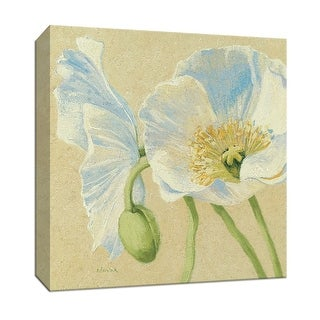 """PTM Images 9-153247  PTM Canvas Collection 12"""" x 12"""" - """"White Poppies II"""" Giclee Flowers Art Print on Canvas"""