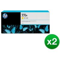 HP 771A 775-ml Yellow DesignJet Ink Cartridge (B6Y18A) (2-Pack)