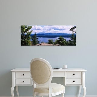 Easy Art Prints Panoramic Images's 'View of a lake, Piseco Lake, Adirondack Mountains, New York State' Canvas Art