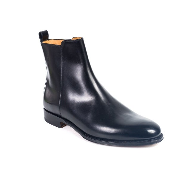 Valentino Mens Black Polished Leather Chelsea Ankle Boots