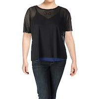 c51737f82e12a Shop MBLM By Tess Holliday Womens Plus Bodysuit Knit 3 4 Sleeves ...