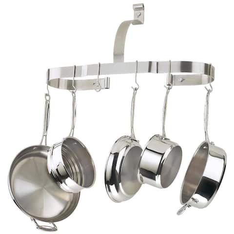 Cuisinart CROW-25B Oval Wall-Mount Cookware Rack, Brushed Stainless