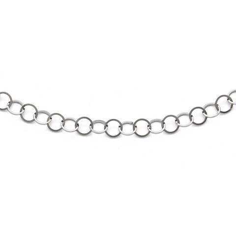 Chisel Stainless Steel Polished 8mm Circle Link Necklace - 36 in