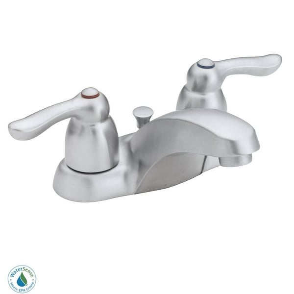 Moen 4925 Double Handle Centerset Bathroom Faucet from the Chateau Collection (Valve Included)