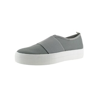 Not Rated Womens Trenoly Mesh Slip-On Shoes Crossover Strap Mesh Overlay