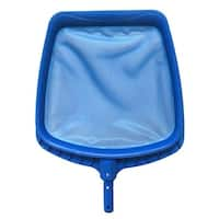 Heavy-Duty Blue Plastic Swimming Pool Leaf Skimmer Head - Fits Most Poles
