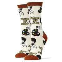 Happy Lil Accidents Women's Crew Socks - Brown