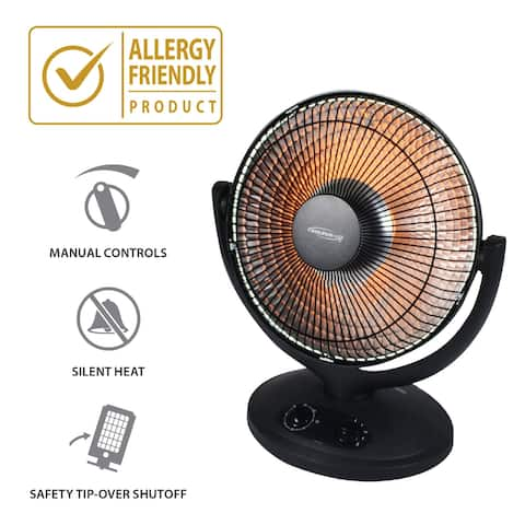 "Soleus Air 17"" Oscilliating Reflective Personal Heater"