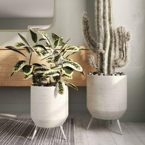 Lyra Large Modern Planters (Set of 2)