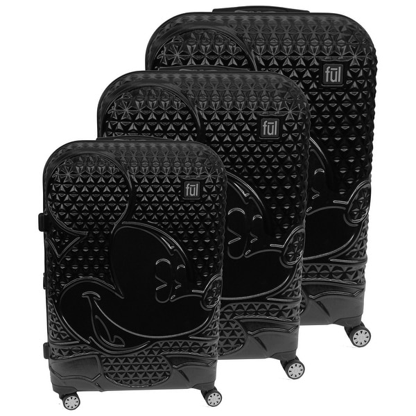 """Ful Disney Textured Mickey Mouse 3-piece Luggage Set - 29"""". Opens flyout."""