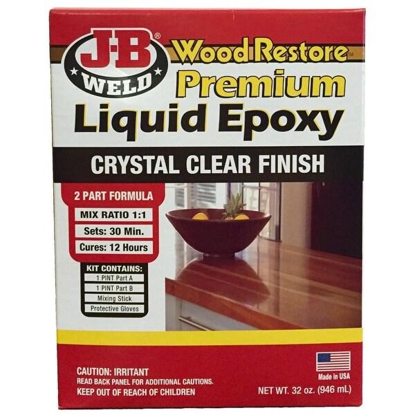 J-B Weld 40002 Wood Restore Premium Liquid Epoxy Kit, 32 Oz