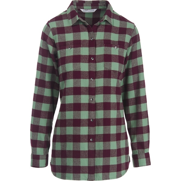 6d3562bf97c Shop Woolrich Buffalo Check Boyfriend Tunic Flannel Shirt