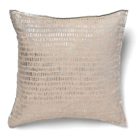 Kelsey Metallic Accent Throw Pillow