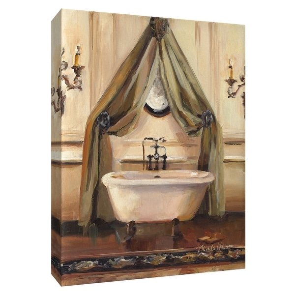 """PTM Images 9-154826 PTM Canvas Collection 10"""" x 8"""" - """"Classical Bath II"""" Giclee Bathroom Art Print on Canvas"""