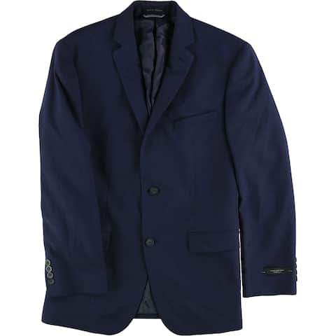 Andrew Marc Mens Plaid Two Button Blazer Jacket