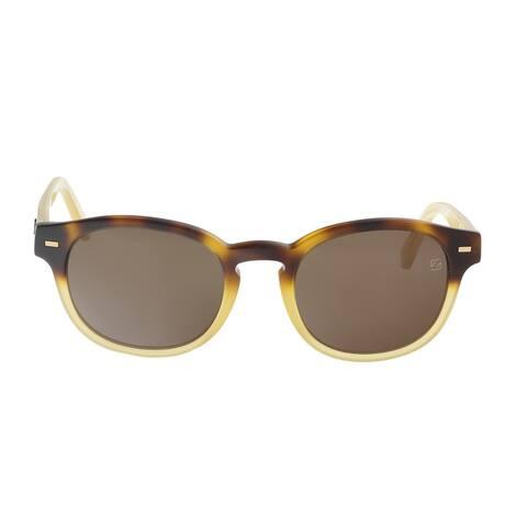 Ermenegildo Zegna EZ0029/S 56J Brown/Gold Square Sunglasses - 51-20-145