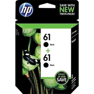 HP 61 Black Ink Cartridges CZ073FN Twin Pack
