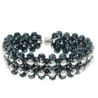 Rose Montee Right Angle Weave Bracelet - Daybreak Evergreen - Exclusive Beadaholique Jewelry Kit