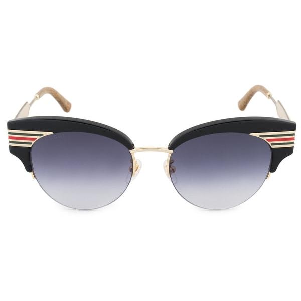 a6b9c41f403 Shop Gucci Gucci Cat Eye Sunglasses GG0283S 001 53 - Free Shipping ...