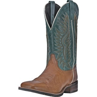 """Laredo Western Boots Mens 11"""" Jhase Square Toe Cowboy Brown 7818"""