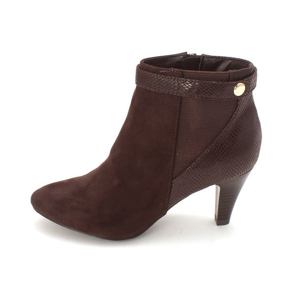 Karen Scott Womens Marra Pointed Toe Ankle Fashion Boots