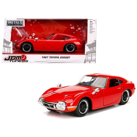 1967 Toyota 2000GT Coupe Red JDM Tuners 1/24 Diecast Model Car by Jada