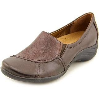 Hush Puppies Verse Women N/S Round Toe Leather Brown Loafer