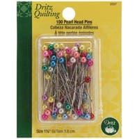 Size 24 100/Pkg - Dritz Quilting Pearl Head Pins
