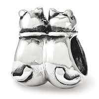 Sterling Silver Reflections Twin Cats Bead (4mm Diameter Hole)