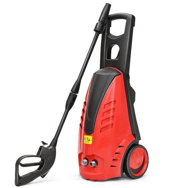 Costway Heavy Duty 2030PSI Electric High Pressure Washer 2000W 1.76GPM Jet Sprayer - Red