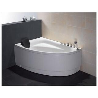 "Eago AM161-R 59"" Acrylic Whirlpool Bathtub for Alcove Installations with Chromat"