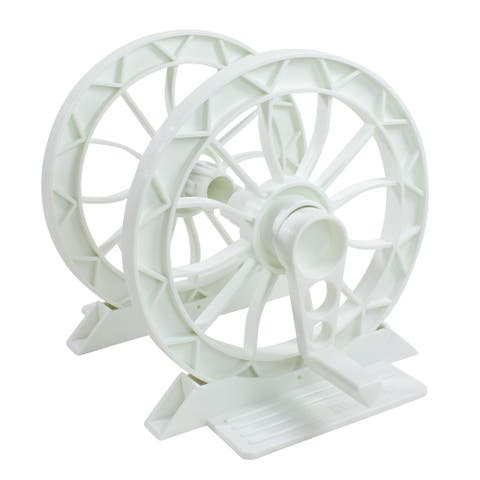 """16.5"""" White HydroTools Solar Cover Advanced Reel System for In-Ground Swimming Pools"""