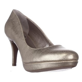 A35 Madyson Platform Classic Heels - Gold