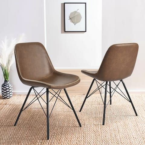 Modern Faux Leather Dining Chair(Set of 2)