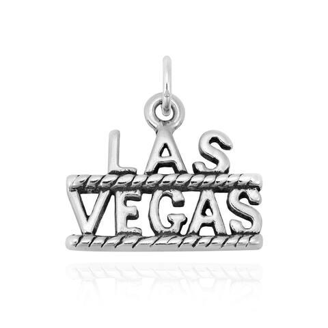 Handmade Fun and Stylish Viva Las Vegas Sterling Silver Charm Pendant (Thailand)