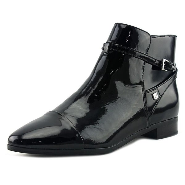 Ivanka Trump Meria Women Round Toe Patent Leather Black Bootie