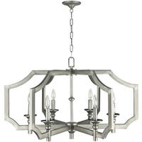 Craftmade 37316 Lisbon 6 Light Candle Style Chandelier - 33.86 Inches Wide