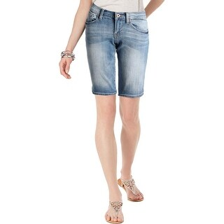 Lucky Brand Womens Bermuda, Walking Shorts Denim Faded