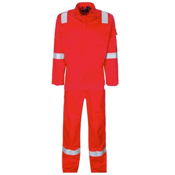 Walls Fr-Industries Mens Red Reflector Coveralls For Work Wear 44 Regular