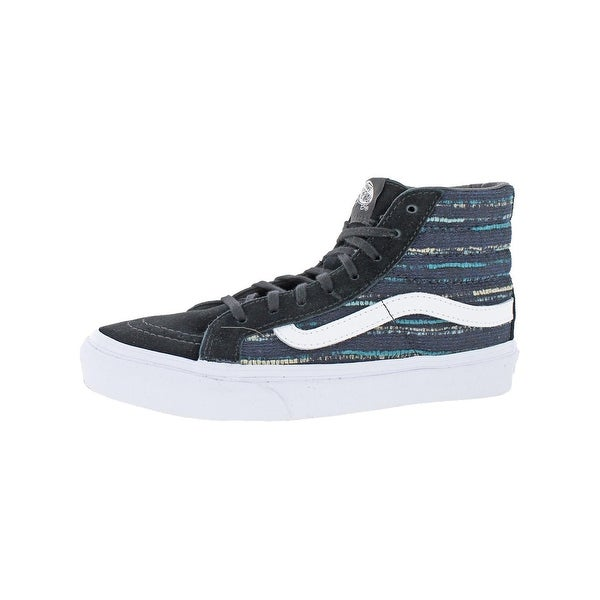 80fdfbf4f Shop Vans Womens SK8-Hi Slim Skate Shoes Italian Weave Fashion ...
