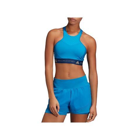 Adidas Stella McCartney Womens Sports Bra Fitness Running - Craft Blue - XS
